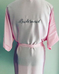 Light Pink Plain Style Robes