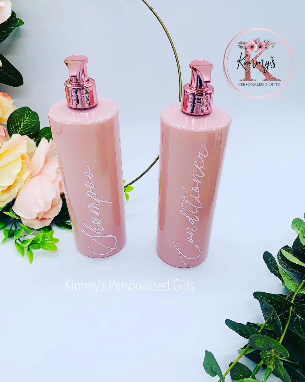 Pink Bottles with Rose Gold Pump
