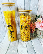 Load image into Gallery viewer, Bamboo Storage Jars, Eco Friendly Jars, Home Storage Ideas