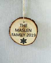 Load image into Gallery viewer, Family Wooden Christmas Bauble