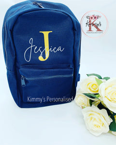 Navy Personalised BackPack