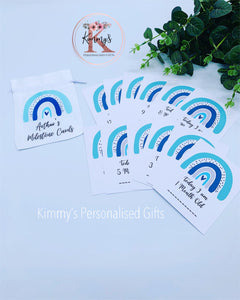 Blue Rainbow Milestone Cards