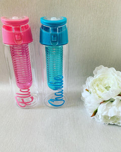 Personalised Pink Water Bottles