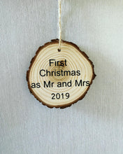 Load image into Gallery viewer, First Christmas Wooden Bauble