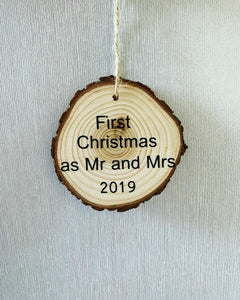 First Christmas Wooden Bauble