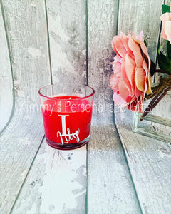 Red Initial Candles