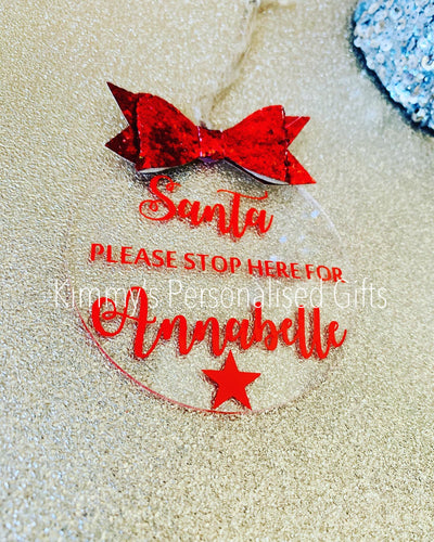 Glittered Bow Bauble