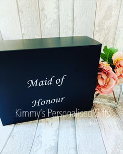 Black Personalised Magnetic Gift Boxes