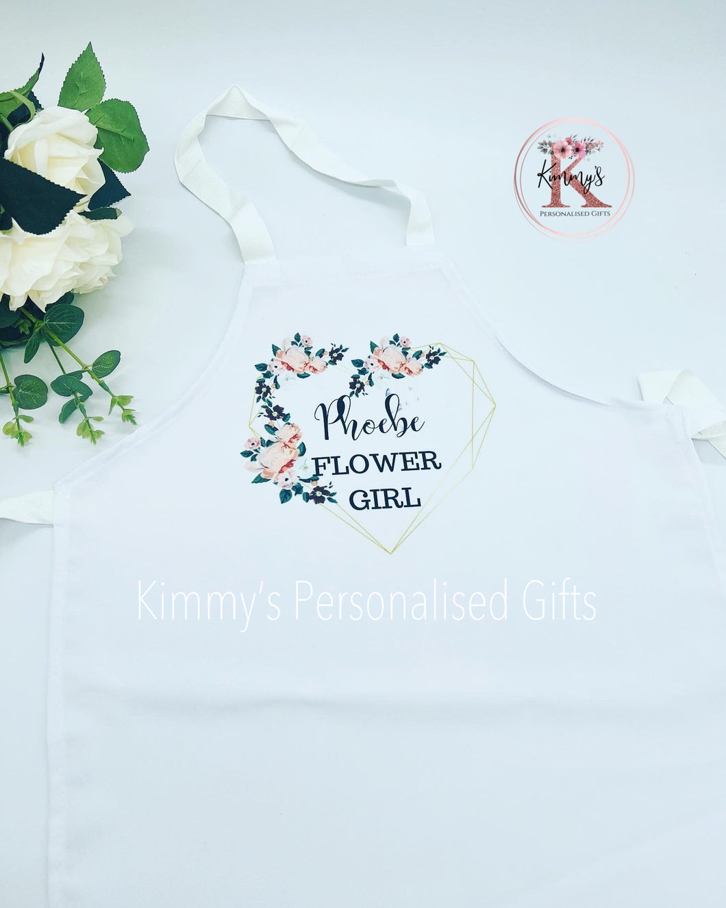 Personalised Flower Girl Aprons