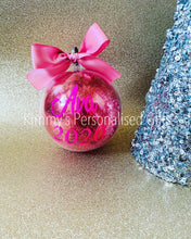 Load image into Gallery viewer, Personalised Bauble with Glitter