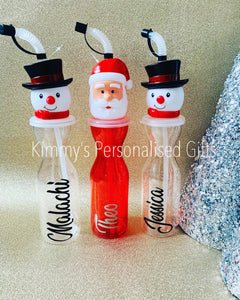Christmas Snowman or Santa Bottle