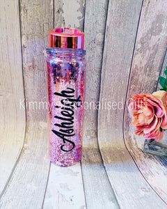 Glittered Water Bottles