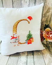 Load image into Gallery viewer, Gold Letter Christmas Cushion