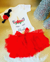 Load image into Gallery viewer, Red Christmas Tutu Set