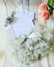 Load image into Gallery viewer, Grey Tutu Set