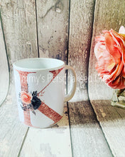 Load image into Gallery viewer, Rose Gold Initial Mug