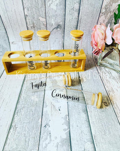 Personalised Spice Rack, Spice Jars, Kitchen Storage,