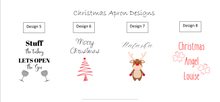 Load image into Gallery viewer, Christmas Aprons for Kids and Adults