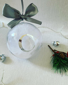 Initial Bauble with Feathers