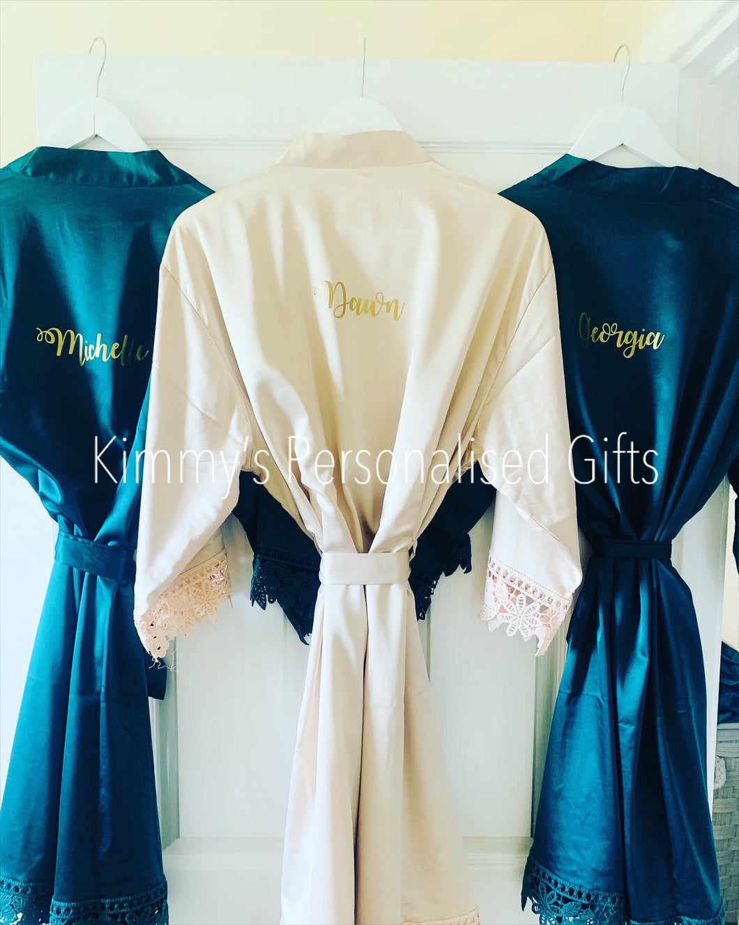 Emerald Green Plain Style Robes