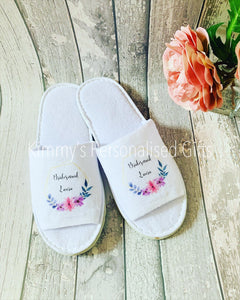 Printed Personalised Slippers