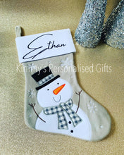 Load image into Gallery viewer, Luxury Snowman Stocking