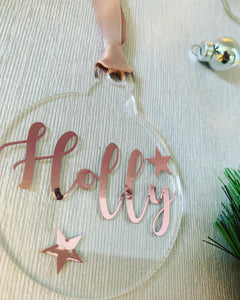 Personalised Name 2D Baubles.