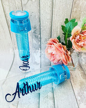 Load image into Gallery viewer, Personalised Blue Water Bottles
