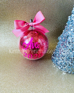 Personalised Bauble with Glitter