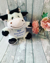 Load image into Gallery viewer, Personalised Cow Teddy