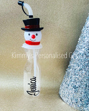 Load image into Gallery viewer, Christmas Snowman or Santa Bottle