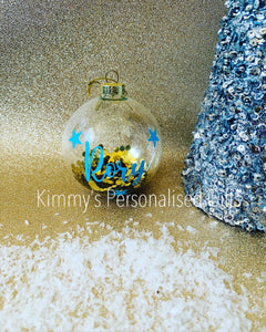 Personalised Sequin Baubles