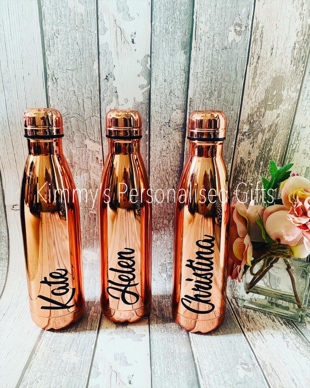 Thermal Rose Gold Personalised Bottle