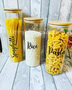 Bamboo Storage Jars, Eco Friendly Jars, Home Storage Ideas