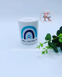 Blue Rainbow Money Box