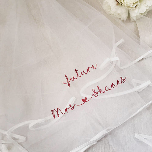 Personalised Hen Party Veil