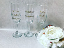 Load image into Gallery viewer, Personalised Champagne Flutes