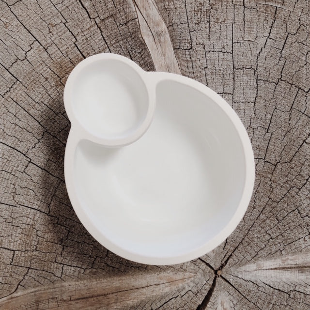 Porcelain Double Bowl