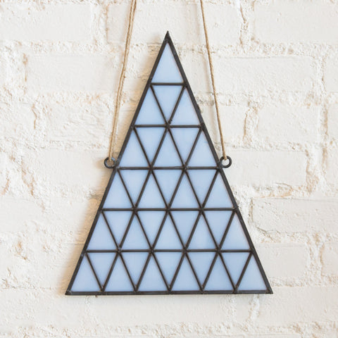 Stained Glass Triangle - White