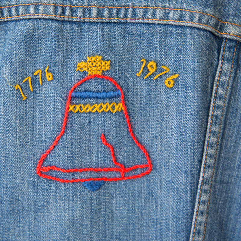 Kids Embroidered Denim Jacket