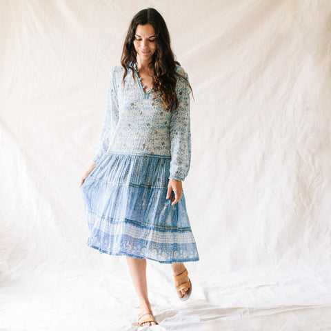 Blue Indian Gauze Dress
