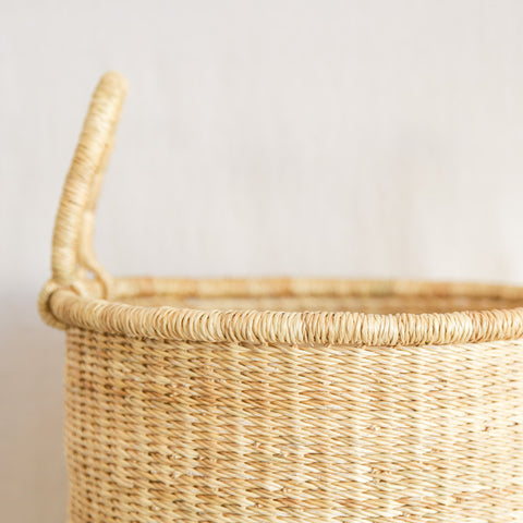 Tall Straw Basket