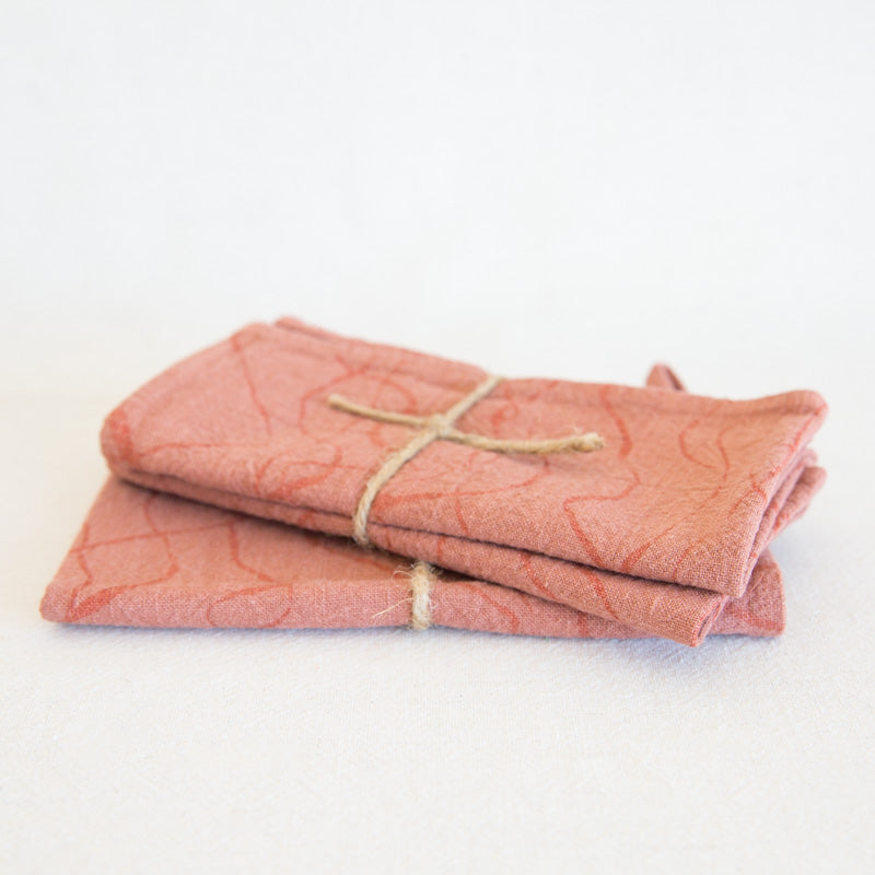 Kitchen Linens - Dusty Coral