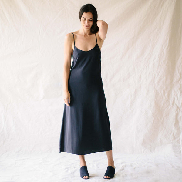 The Slip Dress - Navy