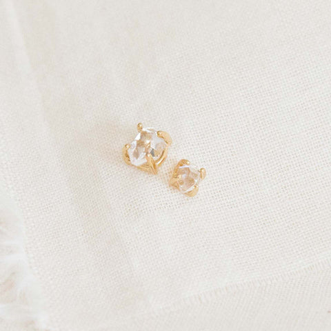 Herkimer Diamond Stud