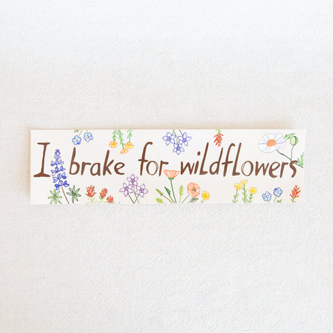 Wildflowers Bumper Sticker