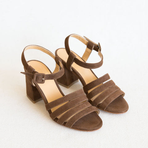Palma High Sandal - Tobacco