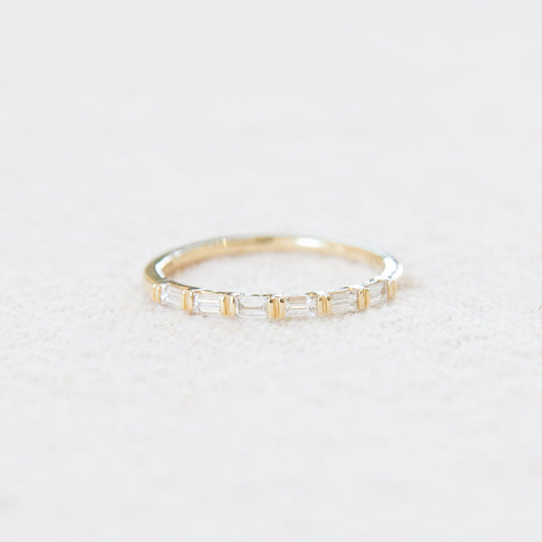 White Diamond Baguette Ring