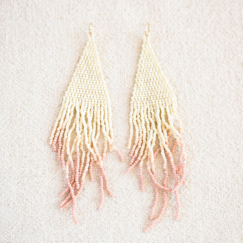 Madder Dip Beaded Earrings