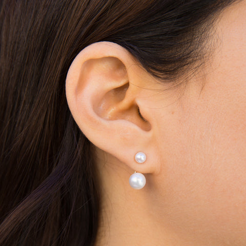 Sister White Pearl Earrings